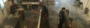 The Avery James team at work producing granite, quartz and marble.