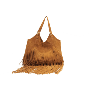 Boho Suede Leather Bag in Tan £148.50 by Sabrina Tach at Boticca