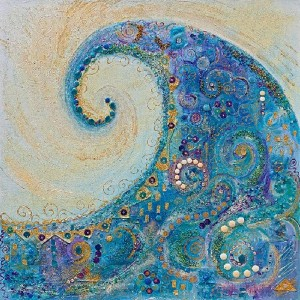 BLUE WAVE (large) by Sharon White